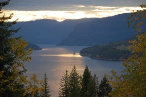 View southwest from Sicamous