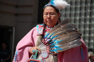 Traditional Blackfoot dancer