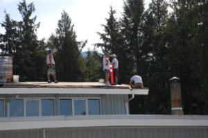 replacing the old roof at Sicamous United Church