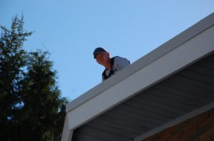 the roof repair at Sicamous UC - looking good!